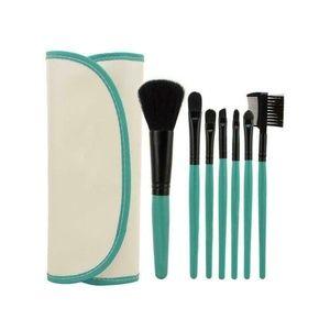 Other - 7 Piece Makeup Brush Set w/ Travel Bag - TEAL